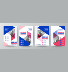 modern blue and pink design template for poster vector image