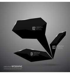 Modern design of shining crystals triangular shape vector image