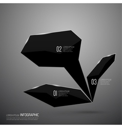 modern design shining crystals triangular shape vector image