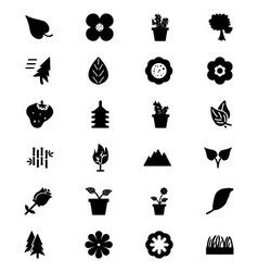 Nature Icons 1 vector