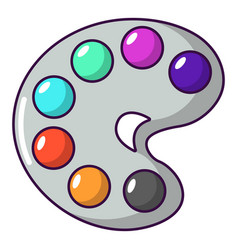 Palette icon cartoon style vector