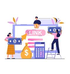 Pay per click marketing digital marketing campaign vector