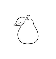 pear fruit hand drawn sketch icon vector image