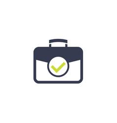 portfolio icon with checkmark vector image
