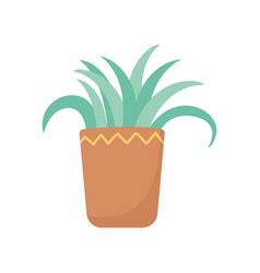 potted plant decoration isolated icon white vector image