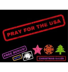 Pray for the usa rubber stamp vector