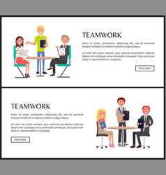 Productive teamwork to create project web pages vector