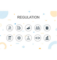 Regulation trendy infographic template thin line vector