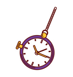 retro pocket watch icon vector image
