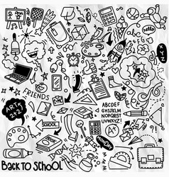 School clipart doodle icons and symbols vector
