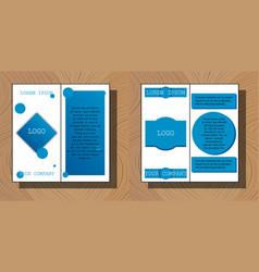 Set of flyer design template - brochure - annual vector