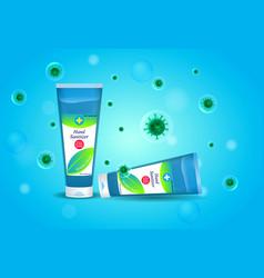 Set sanitizer bottle or various hand sanitizer vector