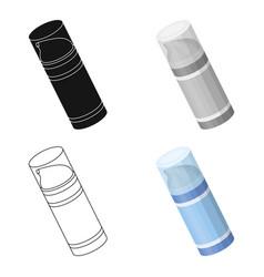 shaving foambarbershop single icon in cartoon vector image