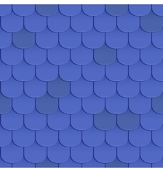 Shingles roof seamless pattern vector image