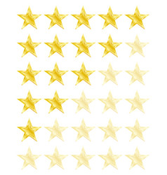 Star rating for 0 - 5 stars best rating vector