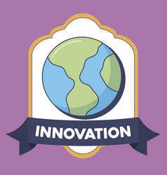 Technology and innovation design icon vector