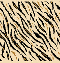 Tiger texture seamless animal pattern background vector