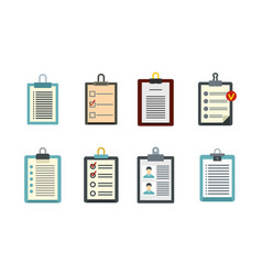 to do list icon set flat style vector image
