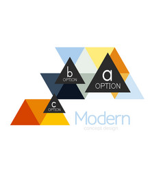 triangle shape design abstract business logo icon vector image