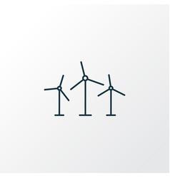 windmills icon line symbol premium quality vector image