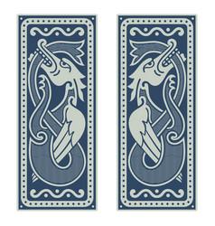 winged dragon in scandinavian vector image