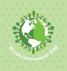 word environment day poster earth vector image