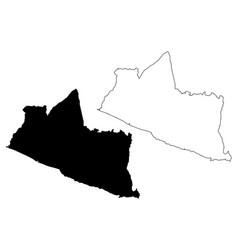 yogyakarta map vector image