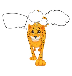 A cheetah with empty callouts vector image vector image