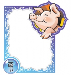 china horoscope 12 pig vector image vector image