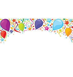 Confetti party banner vector image