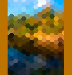 defocused hexagon landscape background vector image vector image