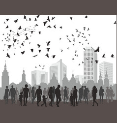 people city and natur vector image vector image