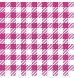 pink lumberjack seamless pattern vector image vector image