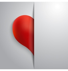 Valentines day half heart greeting paper card vector image