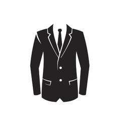 black Suit Icon vector image vector image