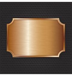 Bronze texture plate vector image vector image