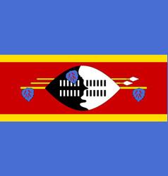 swaziland flat flag vector image