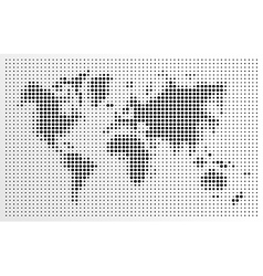 World map black dots atlas composition EPS10 file vector image vector image