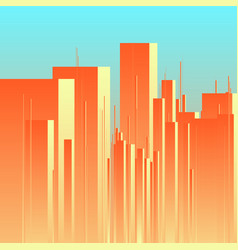 Abstract futuristic city background vector