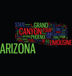 Arizona limousine tours can take you anywhere vector