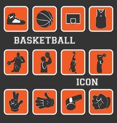 basketball pictogram vector image vector image