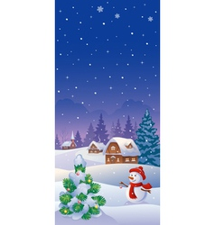 Christmas vertical banner vector image vector image