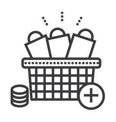 online shopping line icon sign vector image