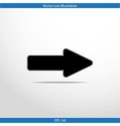 arrow web flat icon vector image