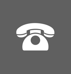 classic phone icon on a dark background vector image vector image