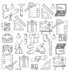 Doodle of education suppplies vector image vector image