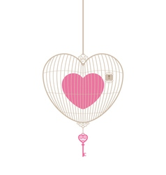 Love cage with key vector image vector image