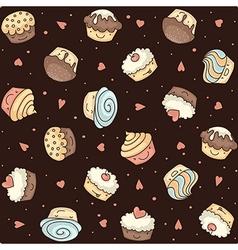 muffin seamless dark vector image vector image