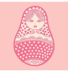 Russian traditional matryoshka doll vector image