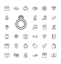 33 gift icons vector